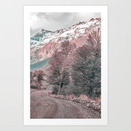 Gravel Empty Road - Parque Nacional Los Glaciares - Patagonia - Argentina Art Print