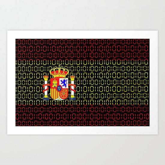 digital Flag (spain) Art Print