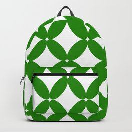 Abstract pattern - green and white. Backpack