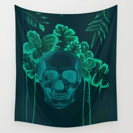 Skull jungle Wall Tapestry