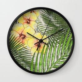 Tropical Getaway Wall Clock