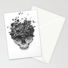 My head is a jungle (b&w) Stationery Cards
