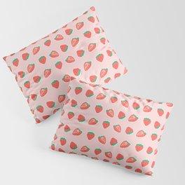Strawberries on Pink Pillow Sham