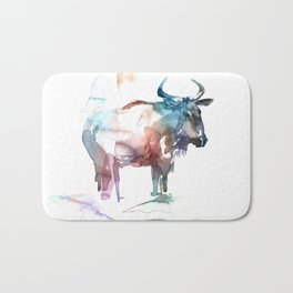 Wildebeest 2 / Abstract animal portrait. Bath Mat