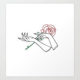 Sharp Romance Art Print