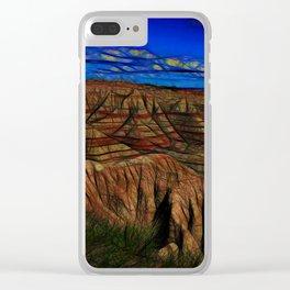 South Dakota Badlands Tall peaks Clear iPhone Case