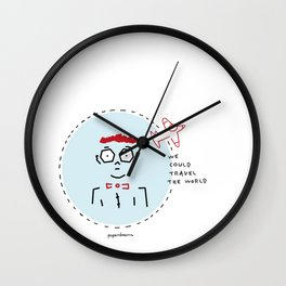 We Could Travel the World Wall Clock