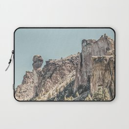 Vintage Smith Rock State Park // River and Rocks Scenic Hiking Landscape Photograph Laptop Sleeve