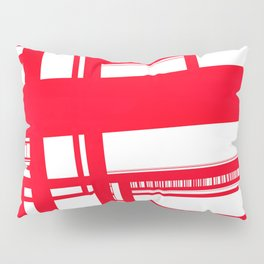 Geometric Abstract City Map Pillow Sham