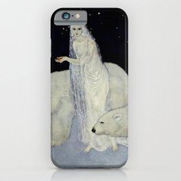 """""""The Snow Queen"""" Fairy Tale Art by Edmund Dulac iPhone Case"""