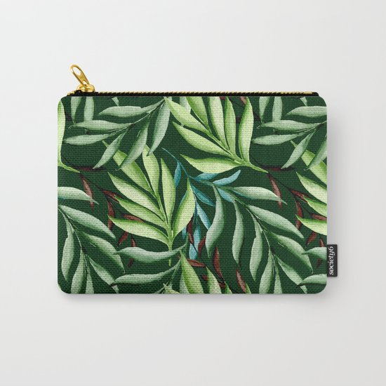 Leaf pattern. Watercolor Carry-All Pouch