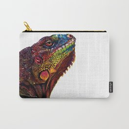 Iguana Watercolor Painting By Windy Shih Carry-All Pouch