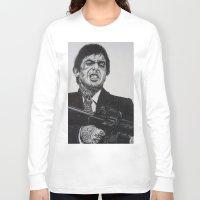 montana Long Sleeve T-shirts featuring A TATTOOED TONY MONTANA by waynemaguire777