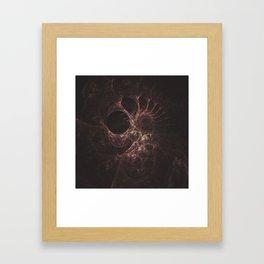 Bones Fractal Framed Art Print