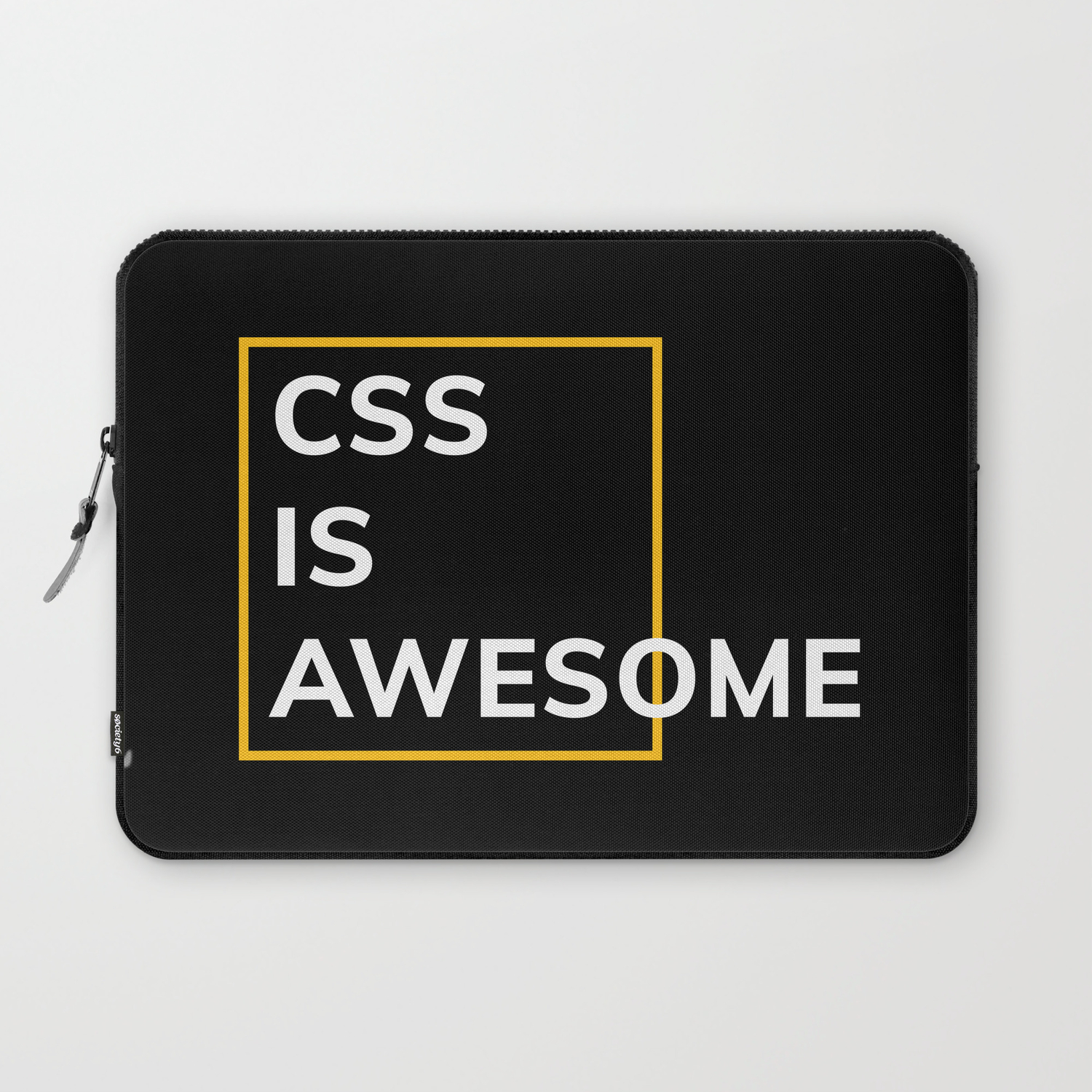 CSS IS AWESOME (Yellow & White) Laptop Sleeve