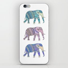 Three Elephants iPhone Skin