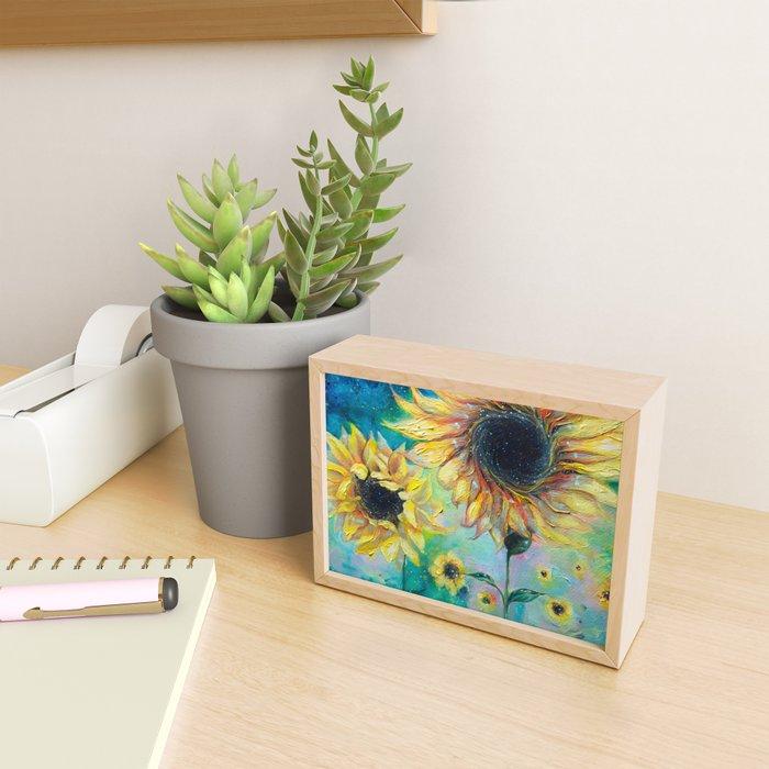 Supermassive Sunflowers Framed Mini Art Print