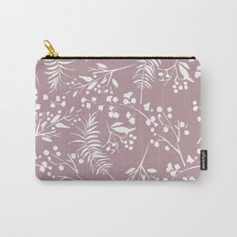 Modern mauve pink white hand painted floral Carry-All Pouch