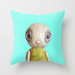 Sheldon The Turtle - Teal Blue Throw Pillow