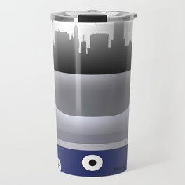 Lincoln - LNK - Airport Code and Skyline Travel Mug