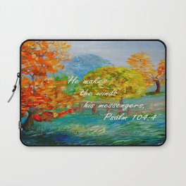 He Makes the Winds His Messengers Laptop Sleeve