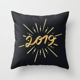 Happy New Year Silvester Firework Gift Idea Throw Pillow