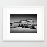50s Framed Art Prints featuring 50s Garage by King Classics