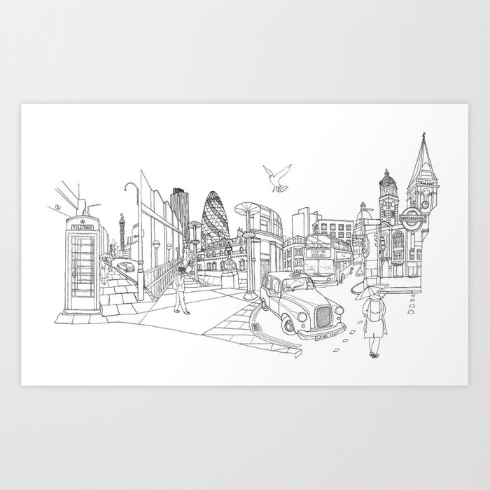 London! Original landscape version Art Print