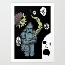 Decaying Wonderland III Art Print