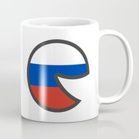 russia Mugs featuring Russia Smile by onejyoo