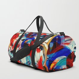 Abstract Action American Painting Duffle Bag