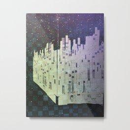 On The Spatial Grid Metal Print