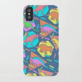 Nineties Dinosaur Pattern iPhone Case