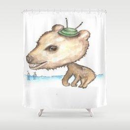 NORDIC ANIMAL - BOBO BEAR / ORIGINAL DANISH DESIGN bykazandholly  Shower Curtain