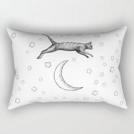 Cat Jumping Over The Moon Rectangular Pillow