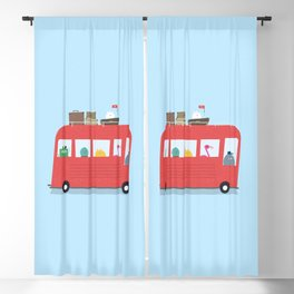 Funny Bus Blackout Curtain