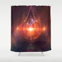 lovecraft Shower Curtains featuring ntyrstyllyr swwryn by Spires