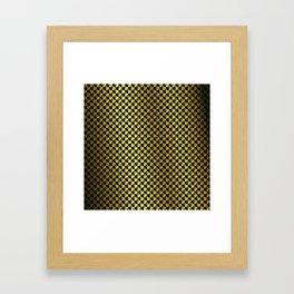 Black and Gold Checkerboard Weimaraner Framed Art Print