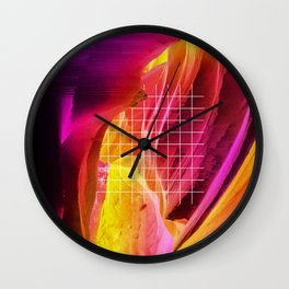Residue of a Nameless Rage Wall Clock