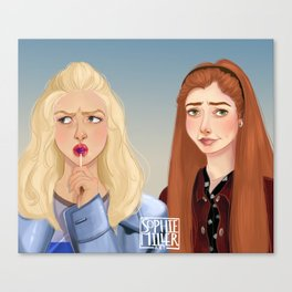 Buffy and Willow Canvas Print
