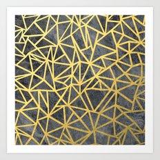 Ab Marb Gold Art Print