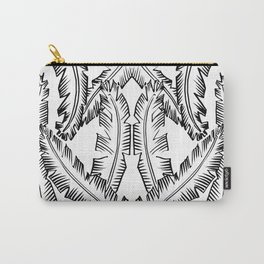 Modern Palm Leaves - black and white Carry-All Pouch