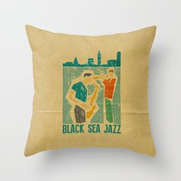 Black Sea Jazz Throw Pillow