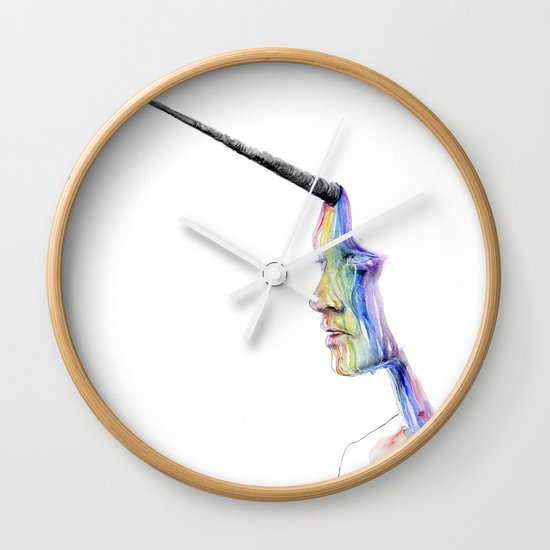unicorn girl Wall Clock