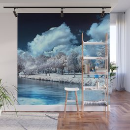 white clouds Wall Mural