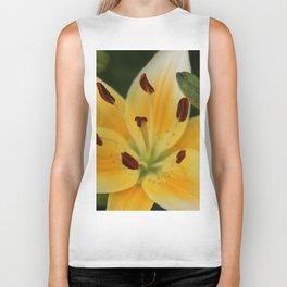 Asiatic Yellow Lily Biker Tank