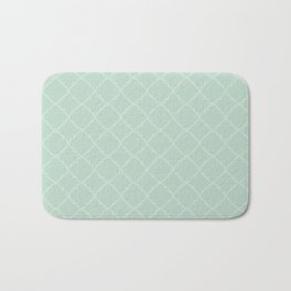 Quatrefoil - Mint Bath Mat