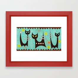 Atomic Cats Framed Art Print