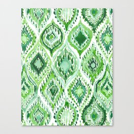 FROM WITHIN Green Moroccan Ogee Canvas Print
