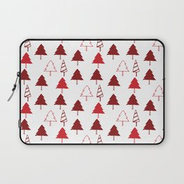 Christmas Tree Red and White Laptop Sleeve